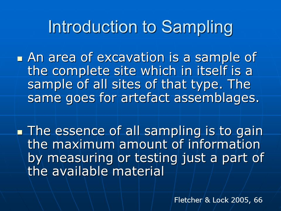 Introduction to Sampling