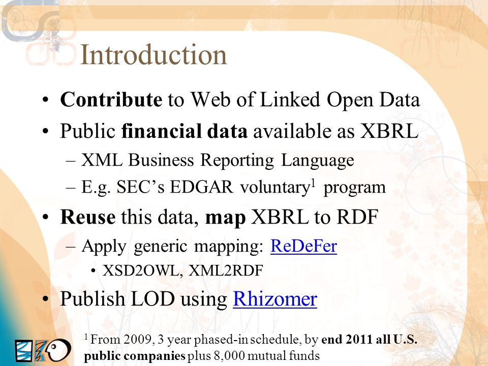 Introduction Contribute to Web of Linked Open Data