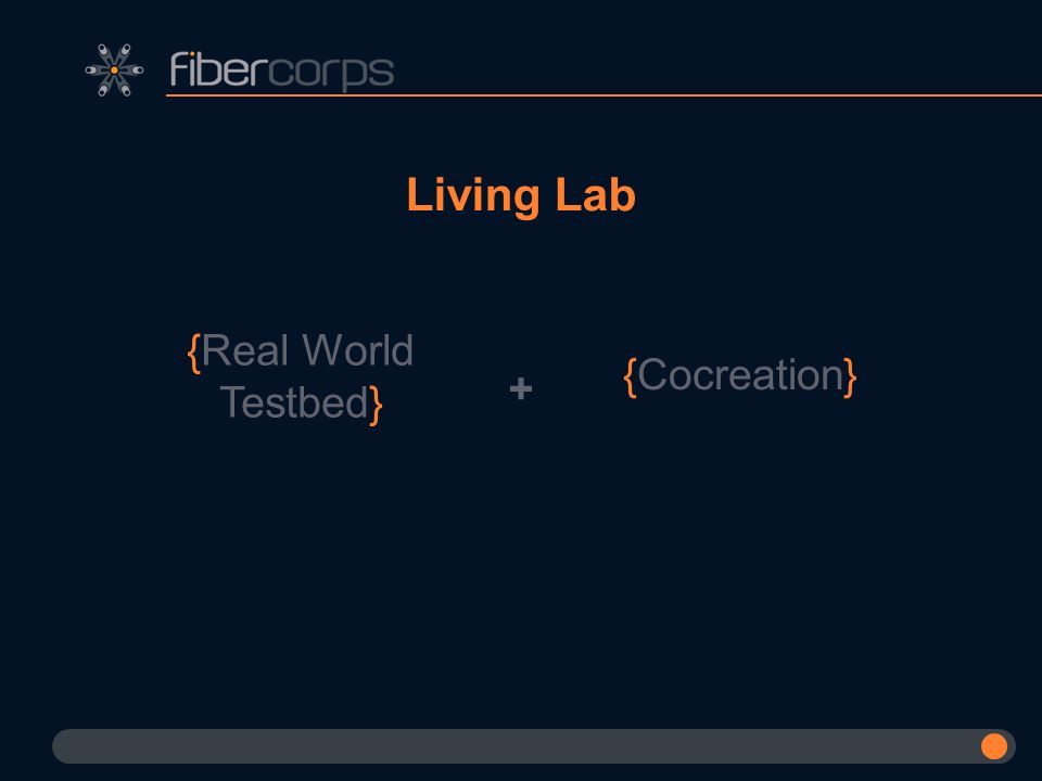 Living Lab {Real World Testbed} {Cocreation} +