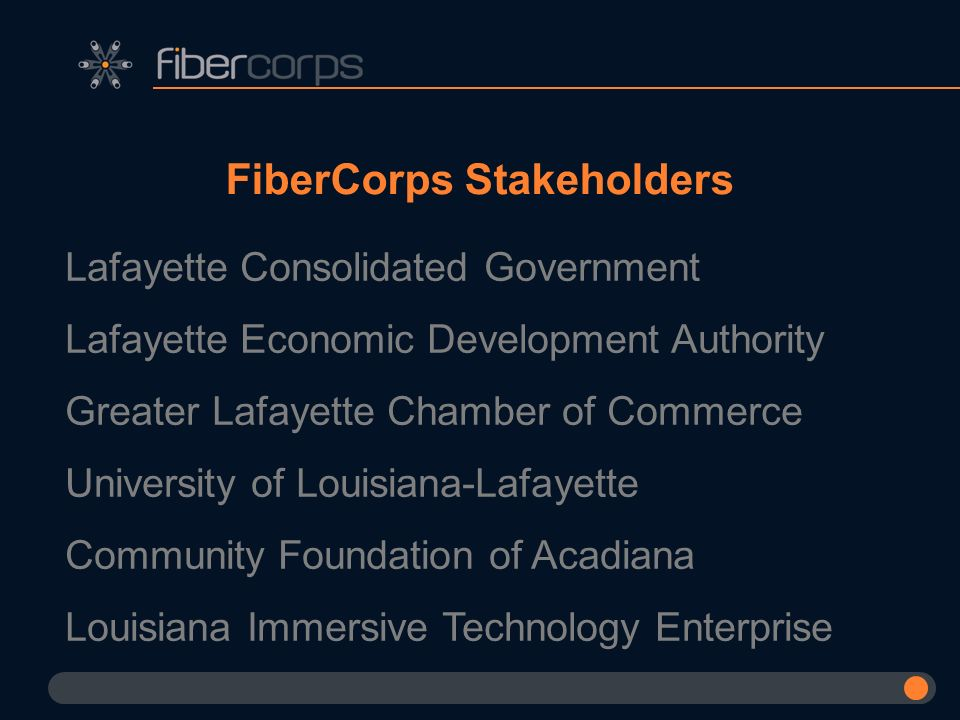 FiberCorps Stakeholders