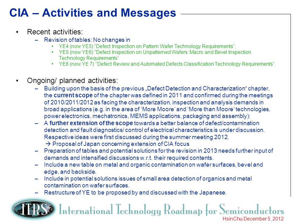CIA – Activities and Messages