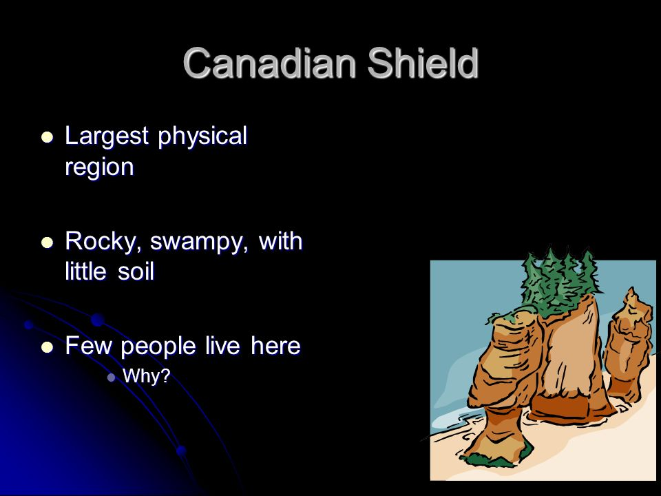 Canadian Shield Largest physical region