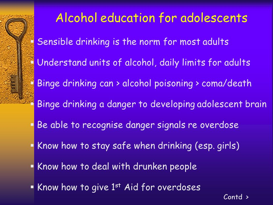 Alcohol education for adolescents