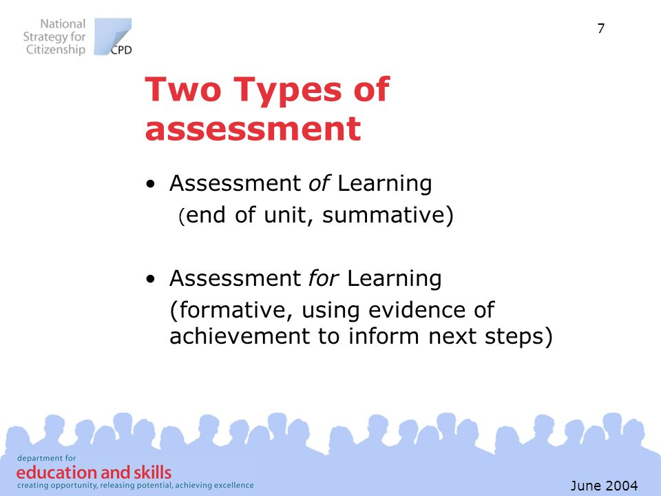 Two Types of assessment
