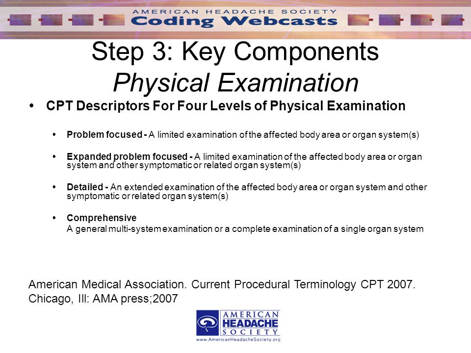 webcast session i an introduction to evaluation and management em rh slideplayer com ama guidelines annual physical exam ama guidelines annual physical exam