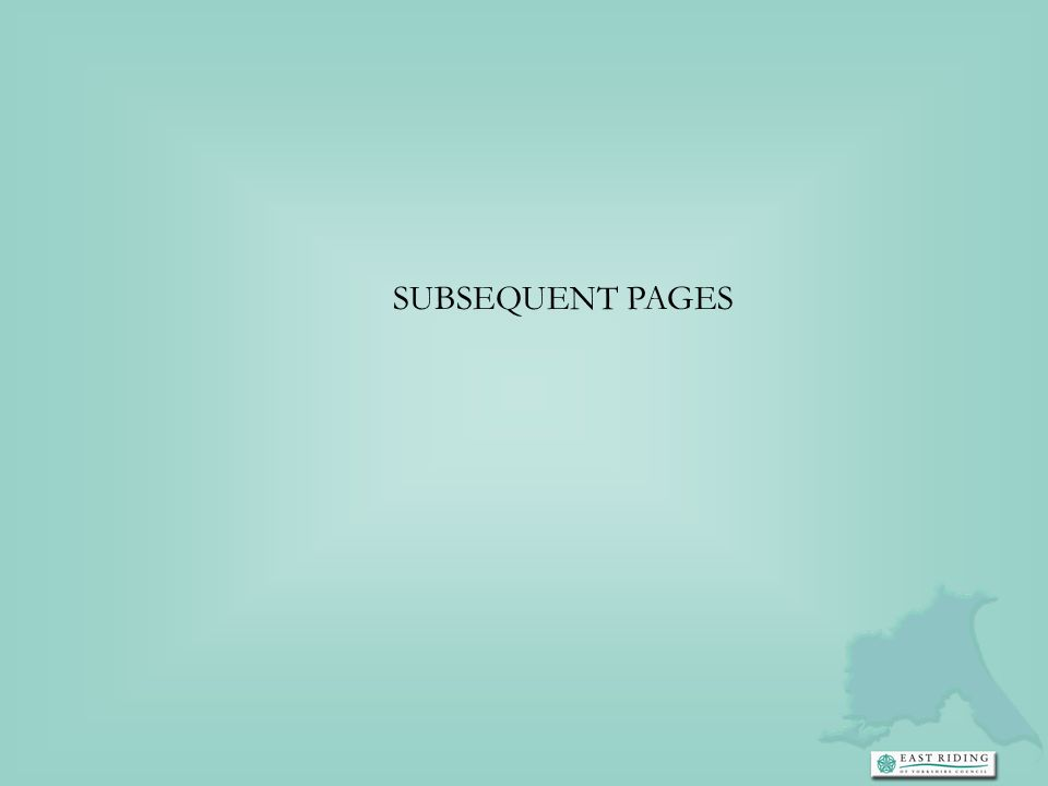 SUBSEQUENT PAGES
