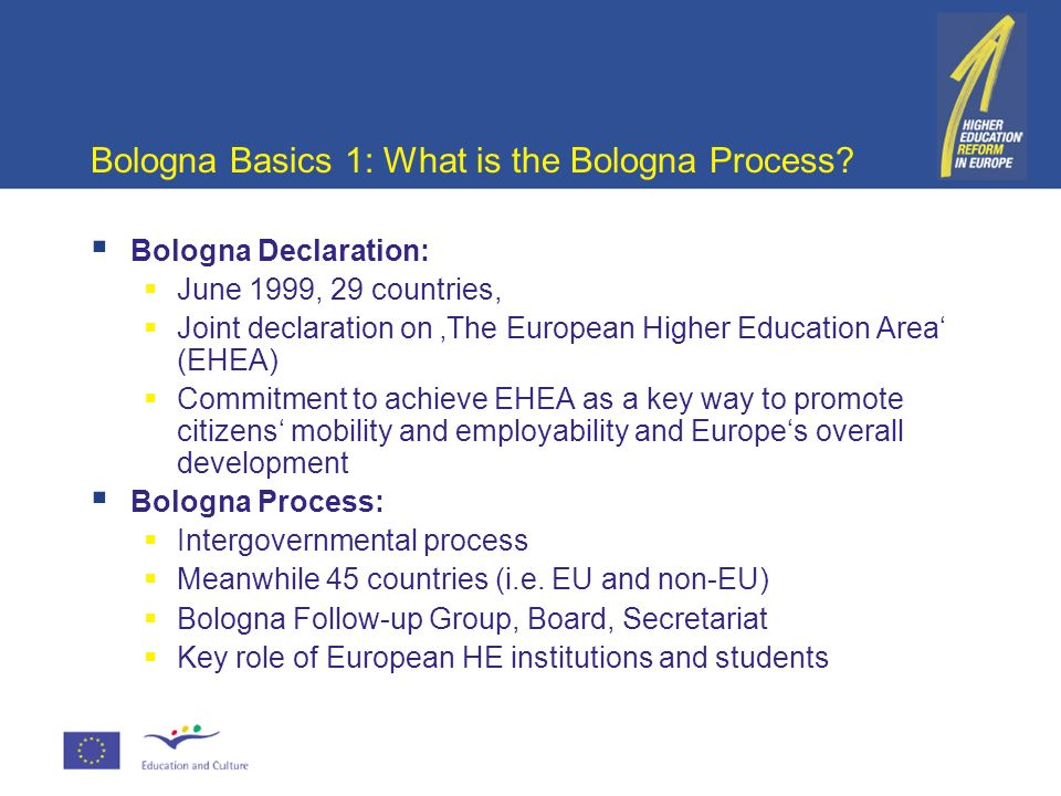 bologna prozess essay The purpose of the bologna process (or bologna accords) is to create the european higher education area by making academic degree standards and quality assurance standards more comparable and.