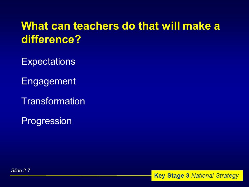 What can teachers do that will make a difference