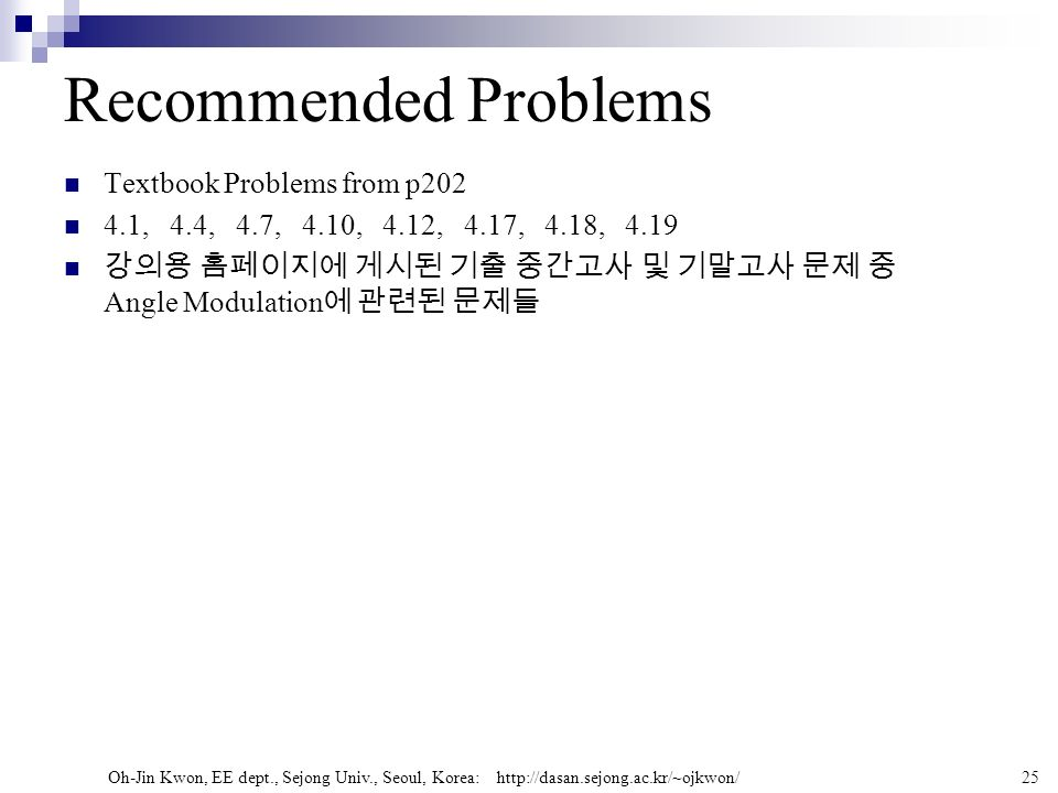 Recommended Problems Textbook Problems from p202