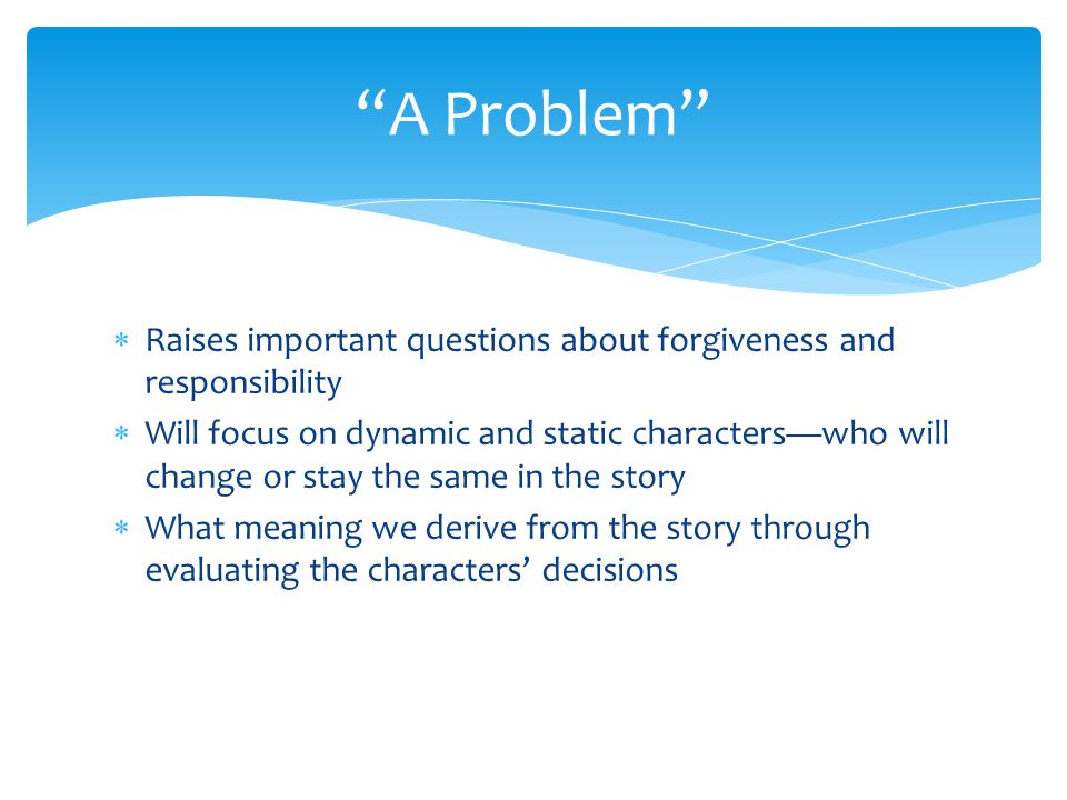 a problem by anton chekhov characters