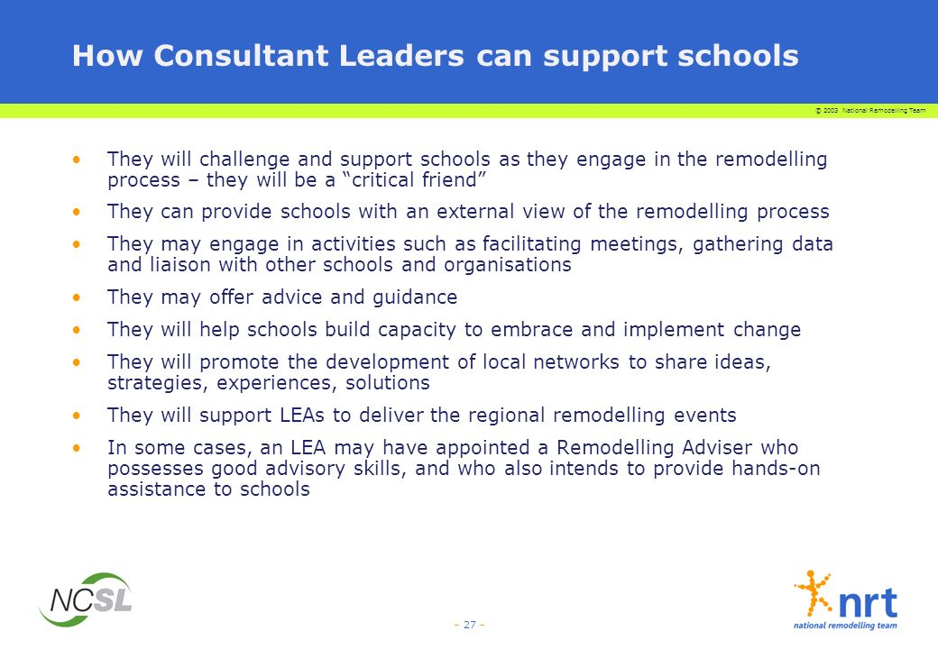 How Consultant Leaders can support schools