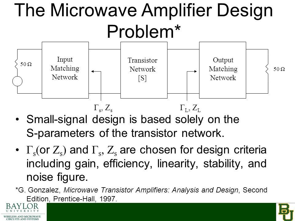 The Microwave Amplifier Design Problem