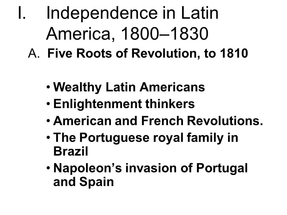independence in latin america The increasing independence of latin america has been one of the most important geopolitical changes over the last decade, affecting not only the region but the rest of the world as well.