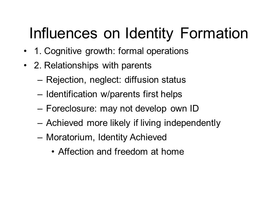 Influences on Identity Formation