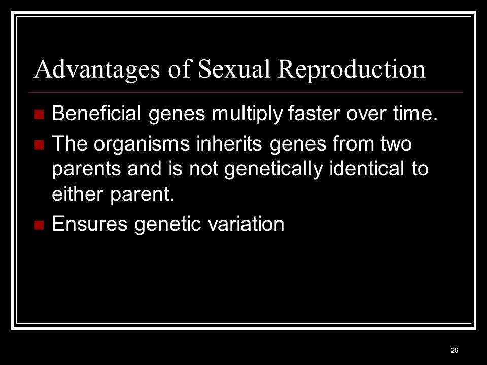 Advantages of Sexual Reproduction