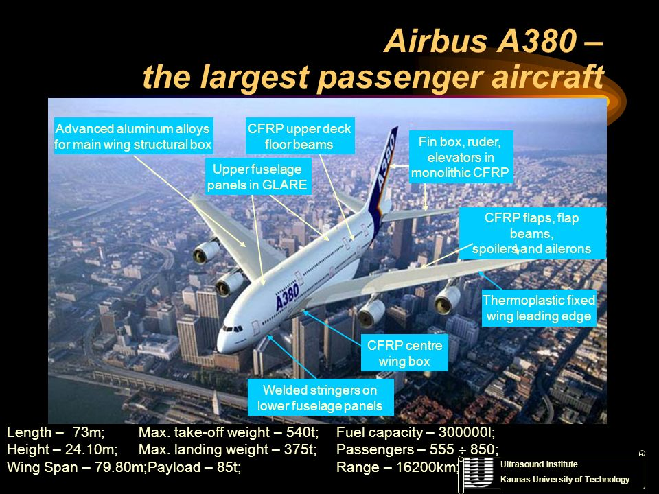 Airbus A380 – the largest passenger aircraft