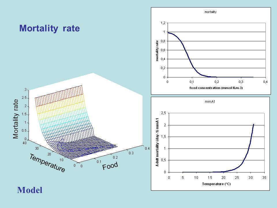 Mortality rate Mortality rate Temperature Food Model