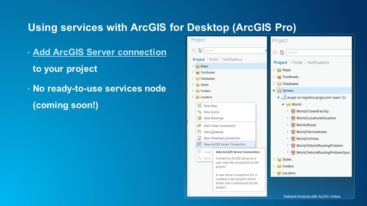 ArcGIS Network Analyst: Network Analysis with ArcGIS Online
