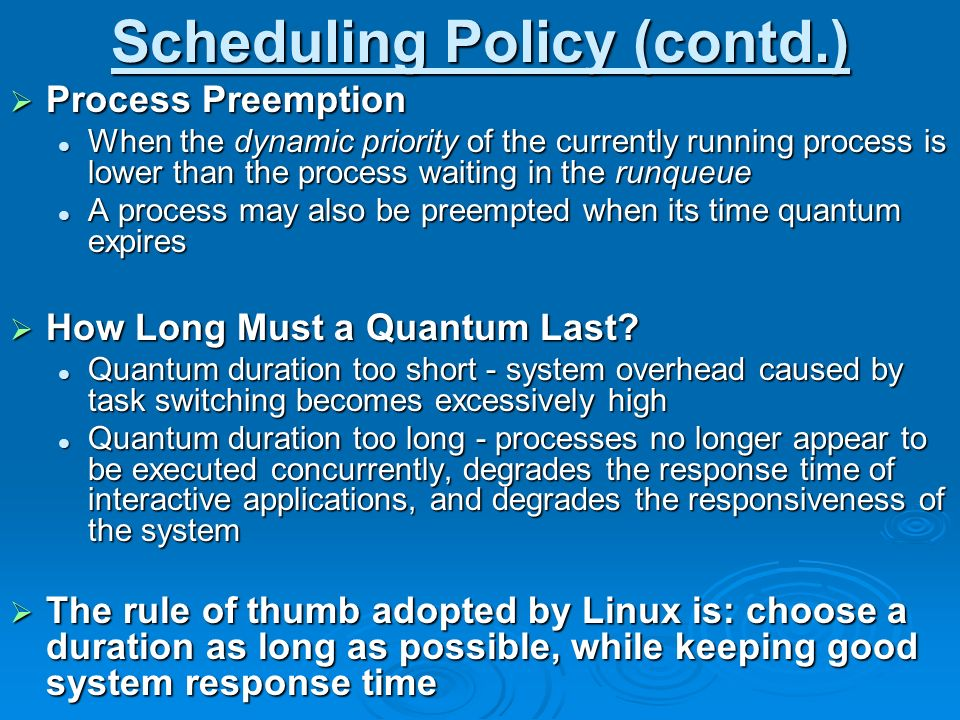 Scheduling in Linux and Windows ppt video online download