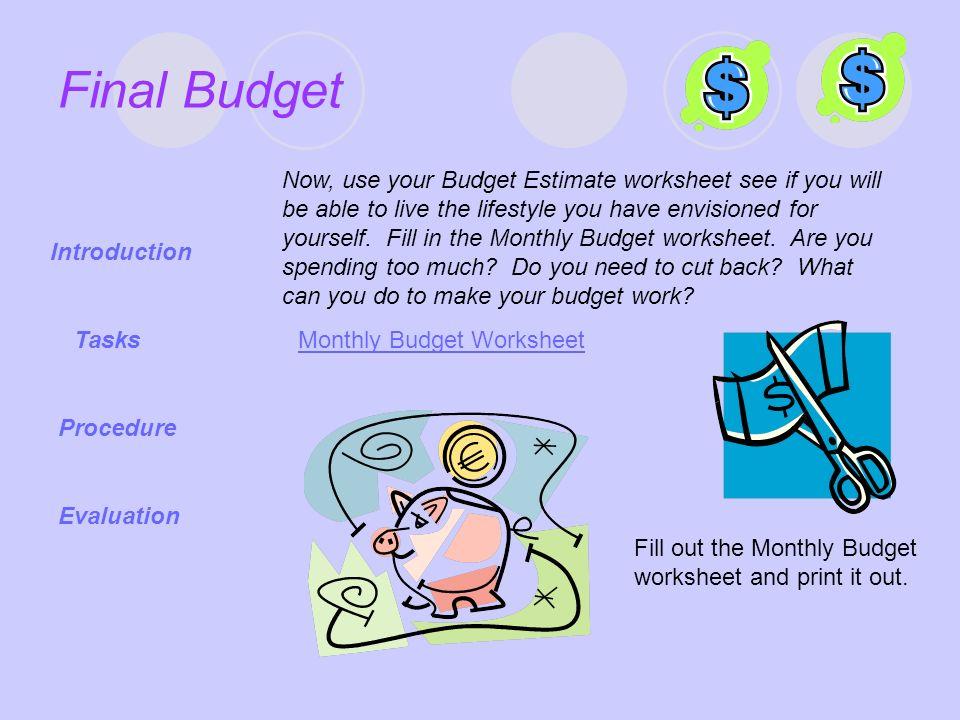 Budget Webquest Introduction Ppt Download