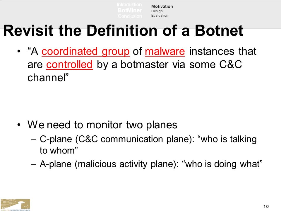 Revisit the Definition of a Botnet