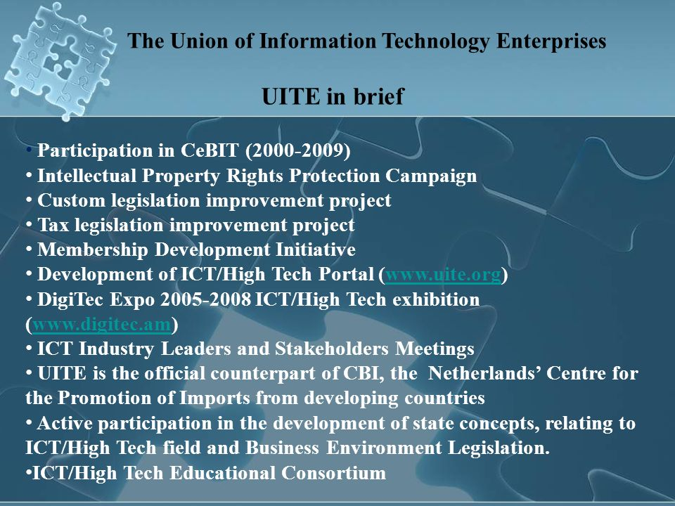 The Union of Information Technology Enterprises