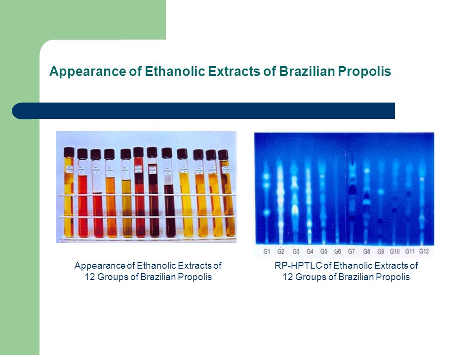 Appearance of Ethanolic Extracts of Brazilian Propolis
