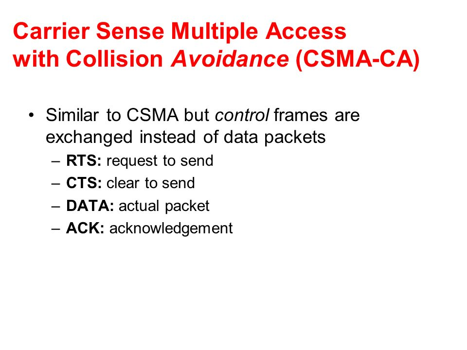 Carrier Sense Multiple Access with Collision Avoidance (CSMA-CA)