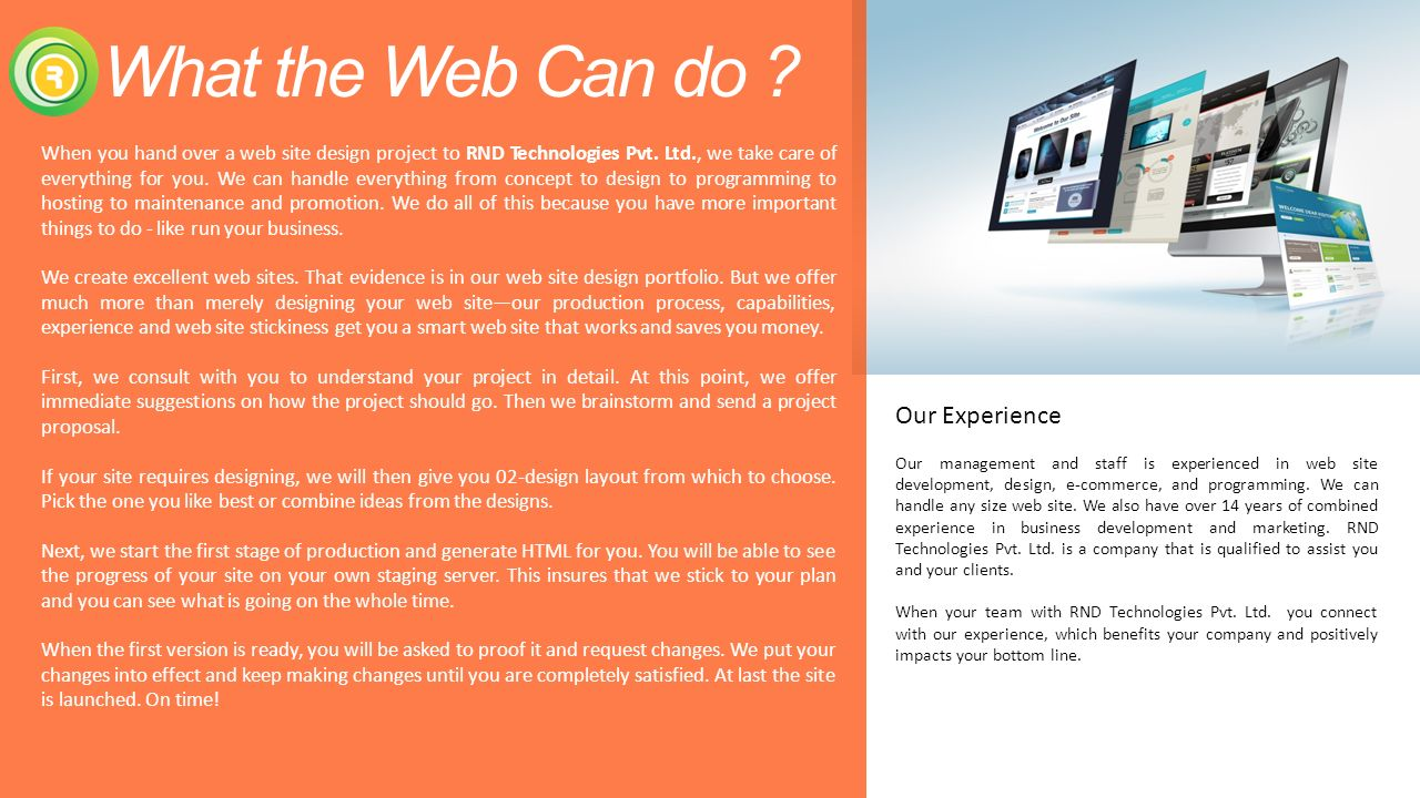 What The Web Can Do Our Experience