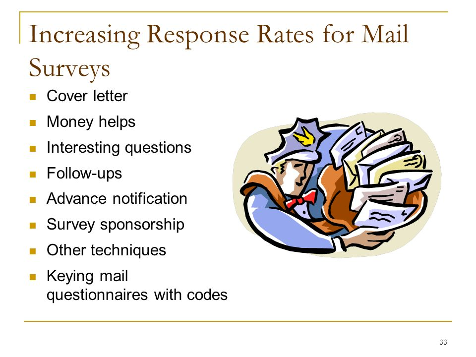 surveys by mail for cash survey research communicating with respondents ppt download 9240