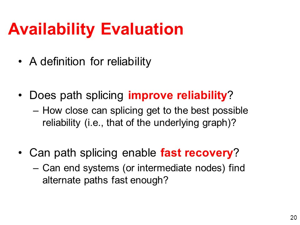 Availability Evaluation