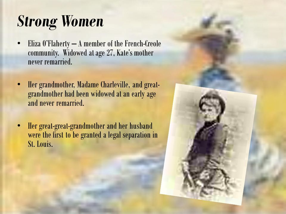 the theme of suicide in the awakening by kate chopin Kate chopin - the awakening period 9 honors english 11 learn with flashcards, games and more — for free the colonel: edna's father and a strong believer in the role of women as housewives and believes men should retain total control over their wives.