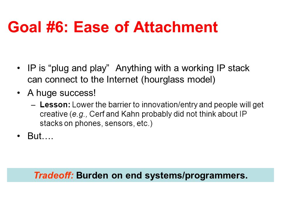 Goal #6: Ease of Attachment