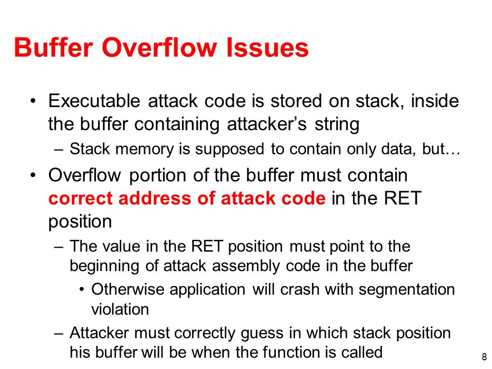 Buffer Overflow Issues