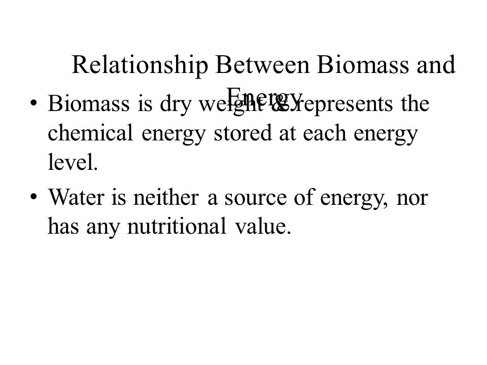 Relationship Between Biomass and Energy