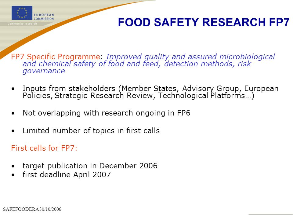 food research topics