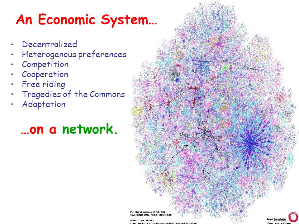 An Economic System On A Network Decentralized