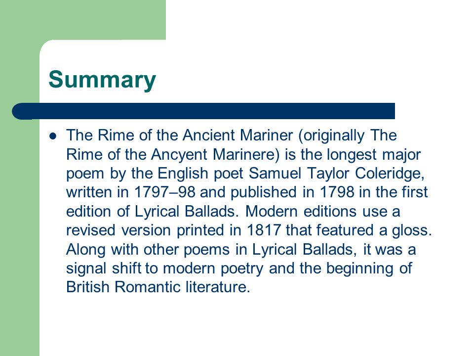 theme of ancient mariner