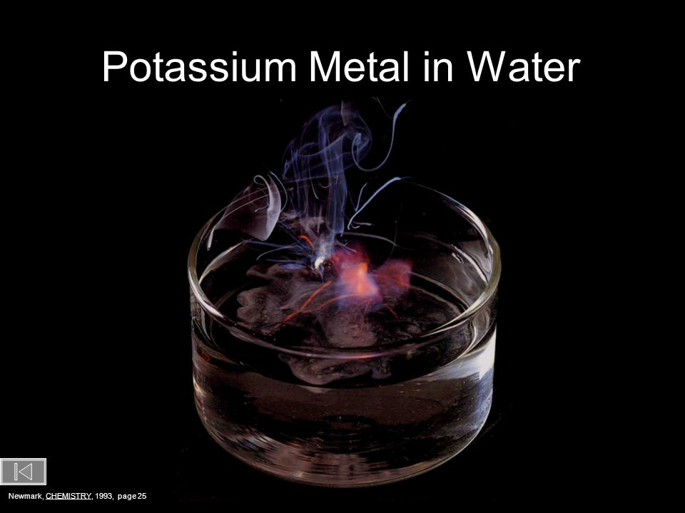 Potassium Metal in Water