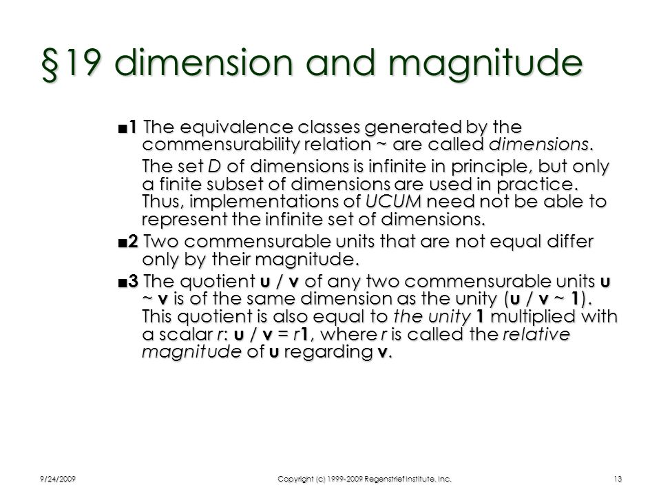 §19 dimension and magnitude
