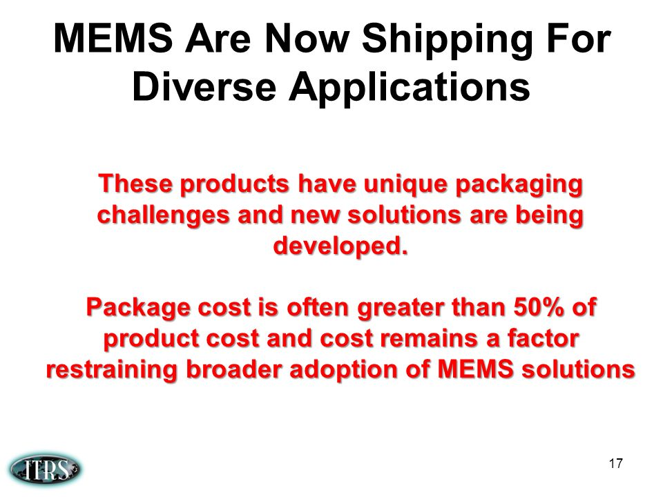 MEMS Are Now Shipping For Diverse Applications