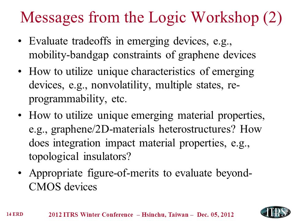 Messages from the Logic Workshop (2)