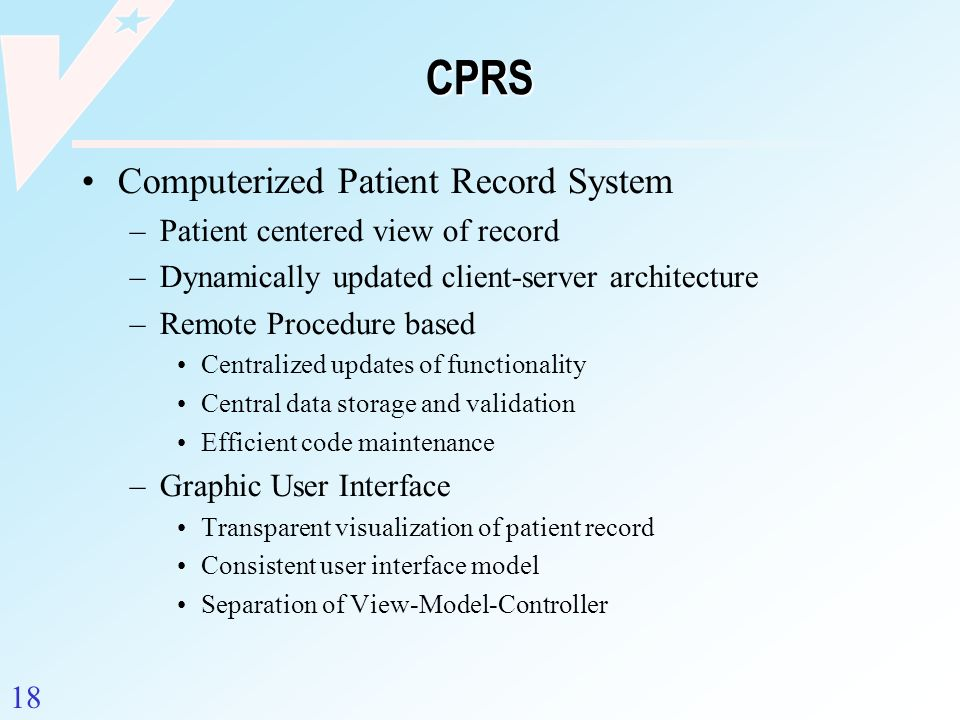 CPRS Computerized Patient Record System