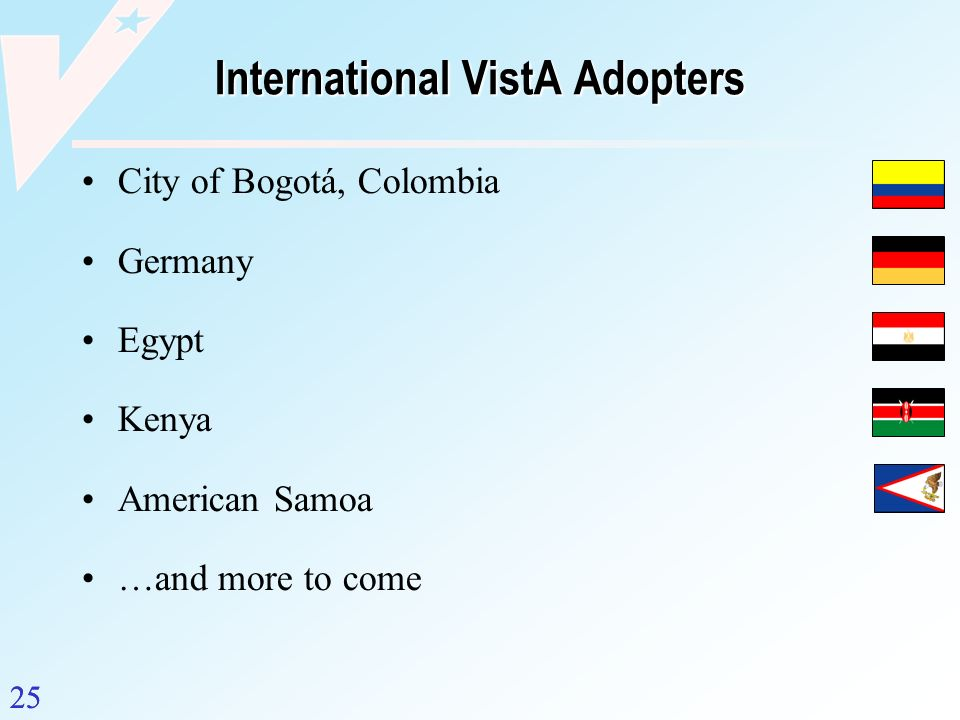 International VistA Adopters
