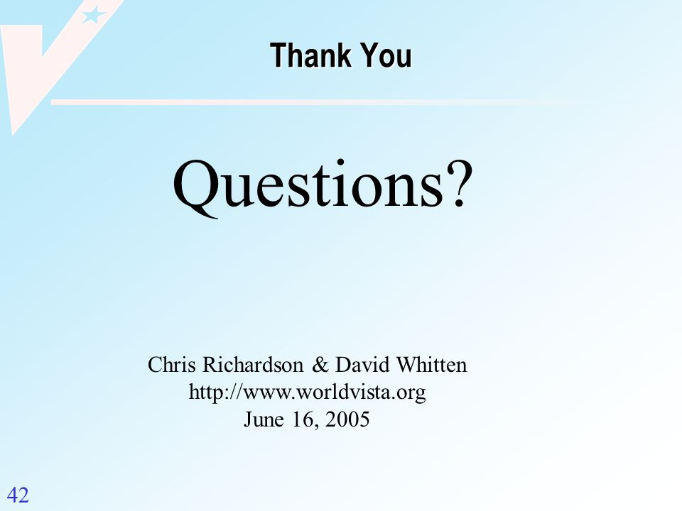 Chris Richardson & David Whitten