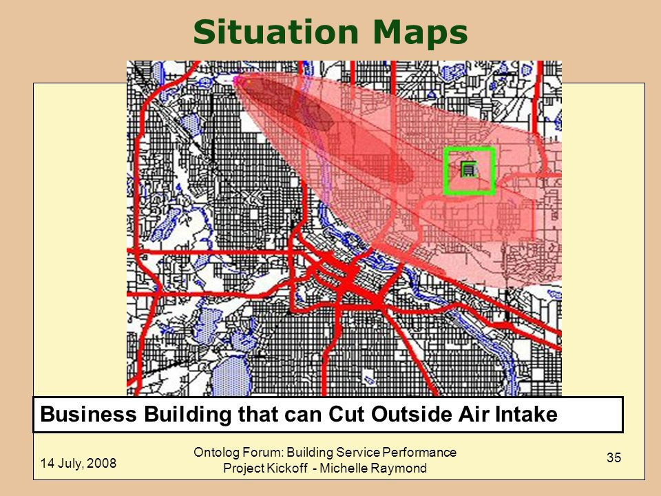 Situation Maps Business Building that can Cut Outside Air Intake