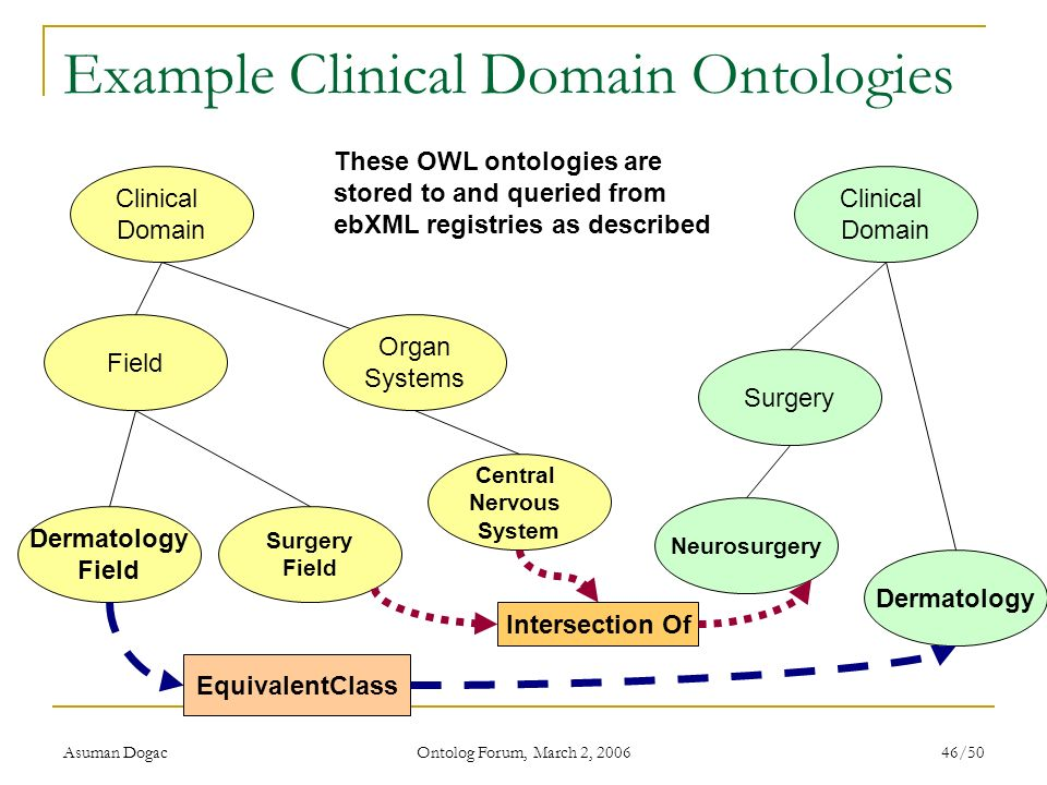 Example Clinical Domain Ontologies