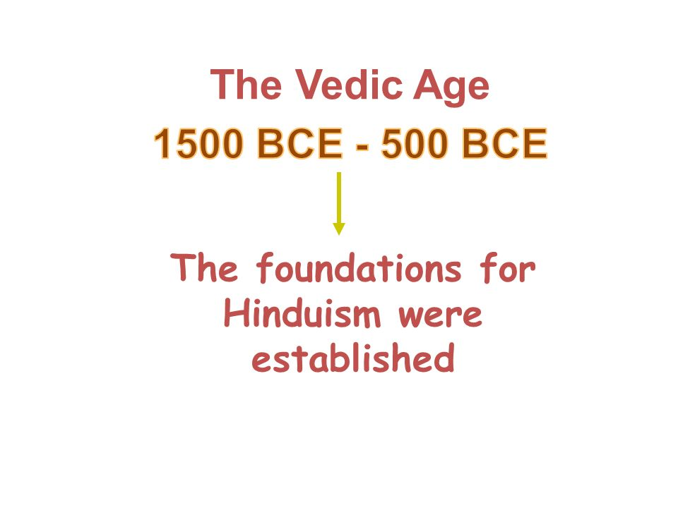 The foundations for Hinduism were established