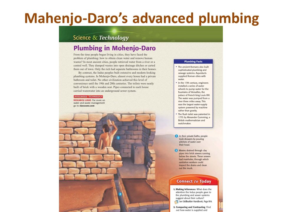 Mahenjo-Daro's advanced plumbing