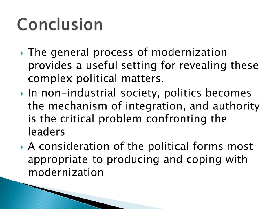 what is political modernization